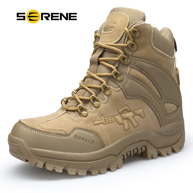 Men/'s Boots Military boot Tactical Big Size Army Bot Male Shoes Combat Ankle Bot