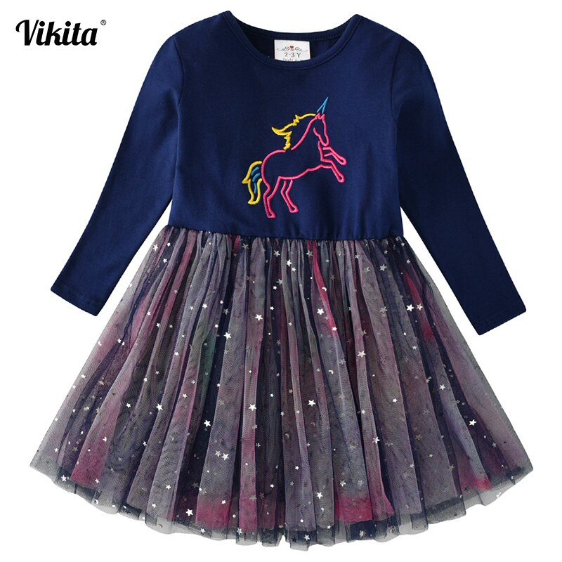Autumn Kids Baby Girls Long Sleeve Clothes Princess Party Casual Tutu Dress 1-5Y