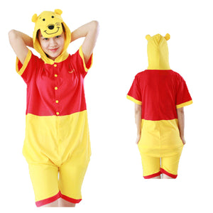 Summer Animal Pajamas Winnie the Pooh Cosplay Costume CMD058