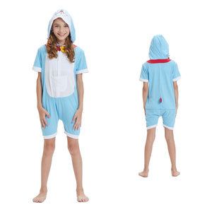 Kids Summer Animal Pajamas Doraemon Cosplay Costume CMD145