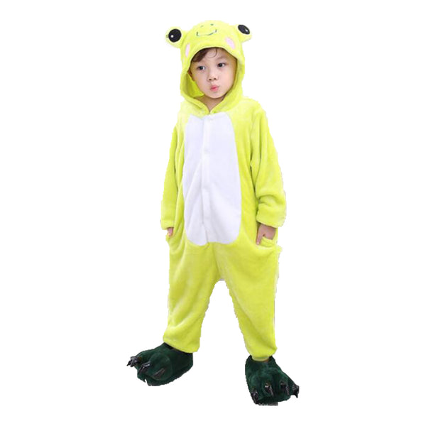 Kids Frog Animal Onesie Pajamas Cosplay Costume CMD033