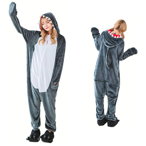 Unisex Shark Kigurumi Animal Onesie Pajamas Cosplay Costume CMD020-Shark - cosplaymadness