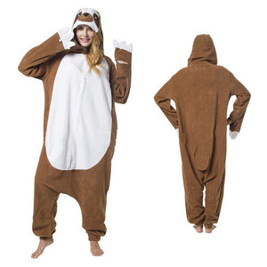 Unisex Sloth Kigurumi Animal Onesie Pajamas Cosplay Costume CMD022-Sloth - cosplaymadness
