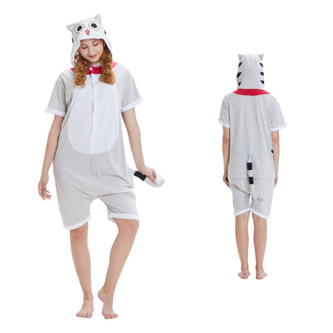 Summer Animal Pajamas Cheese Cat Cosplay Costume CMD053