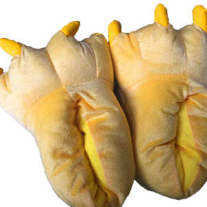 Unisex Dark Yellow Animal Onesies Kigurumi Slippers Shoes CMD048 - cosplaymadness