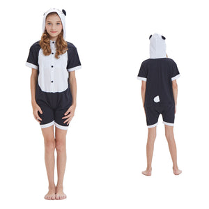 Kids Summer Animal Pajamas Panda Cosplay Costume CMD138