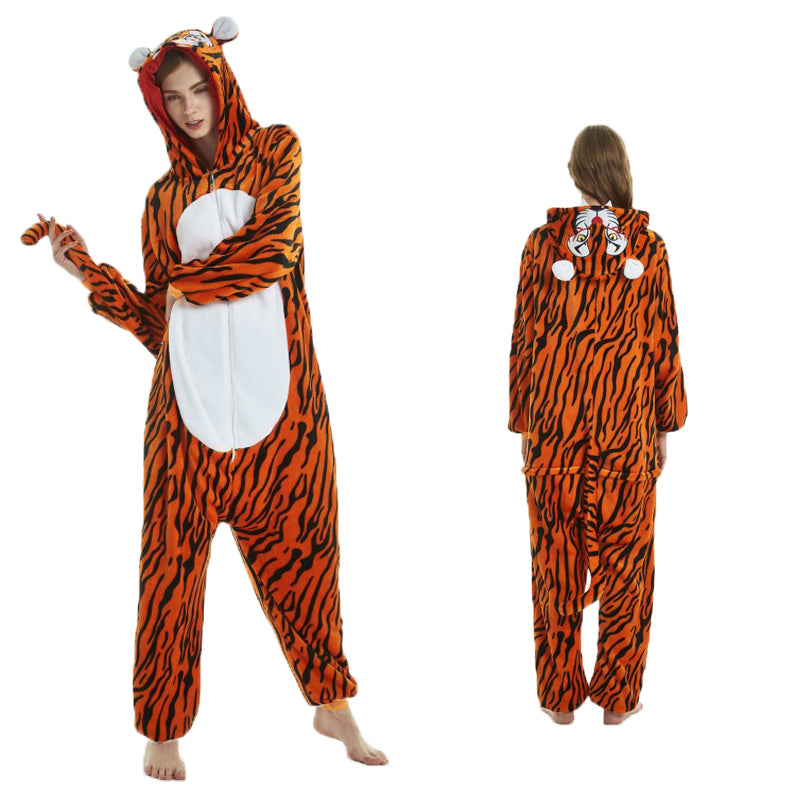Unisex Adult Animal Pajamas Tiger Kigurumi Cosplay Costume CMD108 - cosplaymadness
