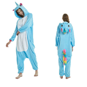Unisex Animal Pajamas Onesies For Adult Blue Pegasus Cosplay Costume CMD104 - cosplaymadness