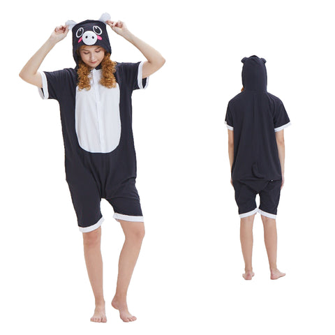 Summer Animal Pajamas Black Pig Cosplay Costume CMD054