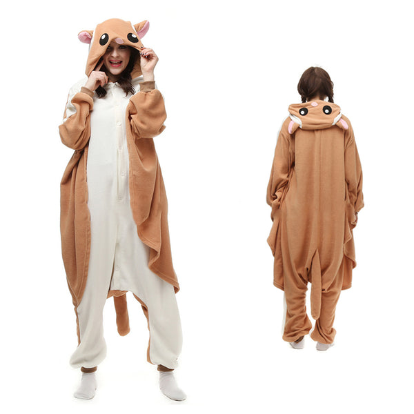 Flying Squirrel Kigurumi Animal Onesie Pajamas Cosplay Costume  CMD004