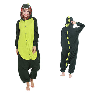 Green Dinosaur Kigurumi Animal Onesie Pajamas Cosplay Costume CMD008