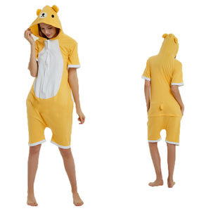 Unisex Adult Summer Animal Pajamas Rilakkuma Cosplay Costume CMD119 - cosplaymadness