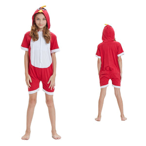 Kids Summer Animal Pajamas Angry Birds Cosplay Costume CMD144