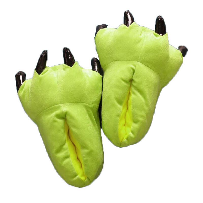 Unisex Green Animal Onesies Kigurumi Slippers Shoes CMD040 - cosplaymadness