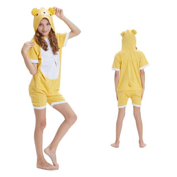 Kids Summer Animal Pajamas Bear Cosplay Costume CMD059
