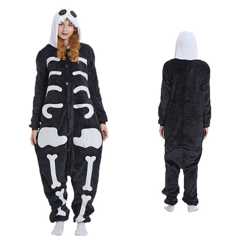 Unisex Skeleton Kigurumi Animal Onesie Pajamas Cosplay Costume CMD021-Skeleton - cosplaymadness