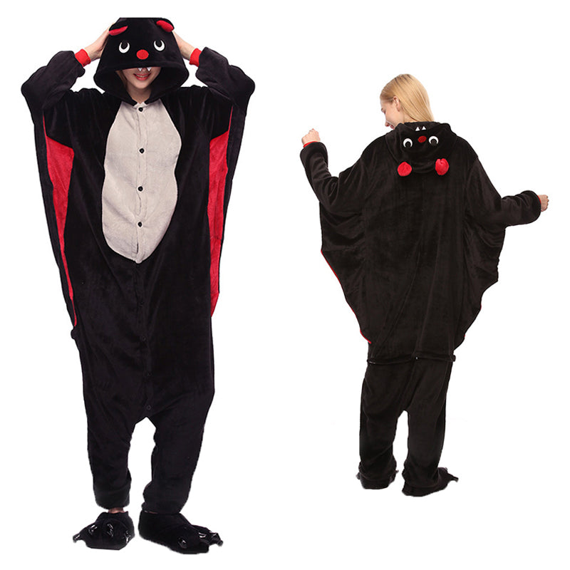 Unisex Bat Kigurumi Animal Onesie Pajamas Cosplay Costume CMD002-Bat - cosplaymadness