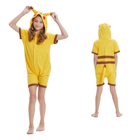 Kids Summer Animal Pajamas Pikachu Cosplay Costume CMD137