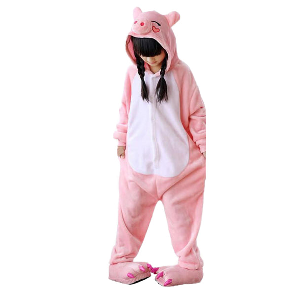 Kids Pink Pig Animal Onesie Pajamas Cosplay Costume CMD037