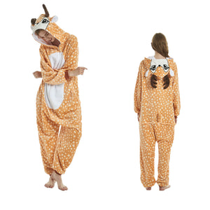 Unisex Animal Onesie Pajamas For Adult Fawn Cosplay Costume CMD106 - cosplaymadness
