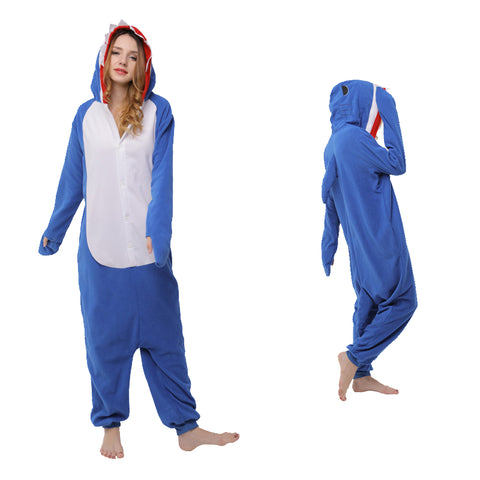 Animal Pajamas Blue Shark Cosplay Costume CMD110