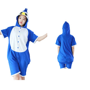 Summer Animal Pajamas Blue Penguin Cosplay Costume CMD057