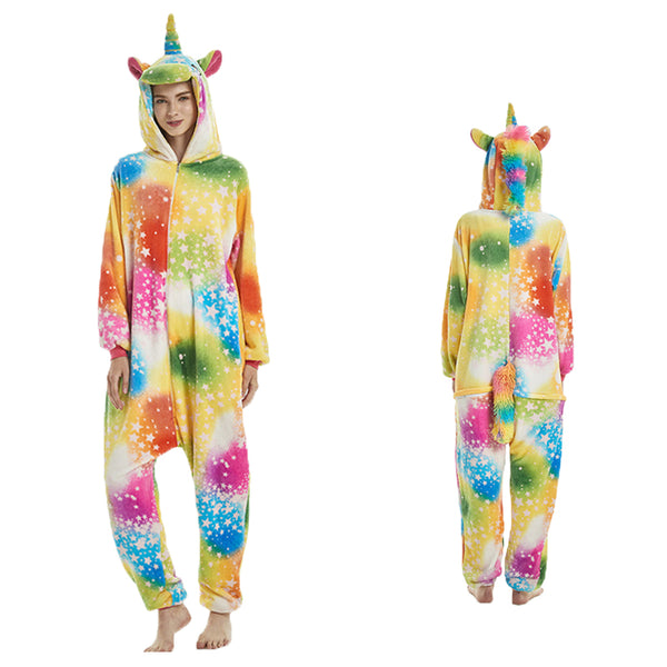 Unisex Adult Animal Pajamas Starry Pegasus Cosplay Costume CMD101 - cosplaymadness