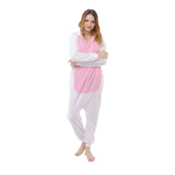 Animal Pajamas White Rabbit Kigurumi Cosplay Costume CMD159