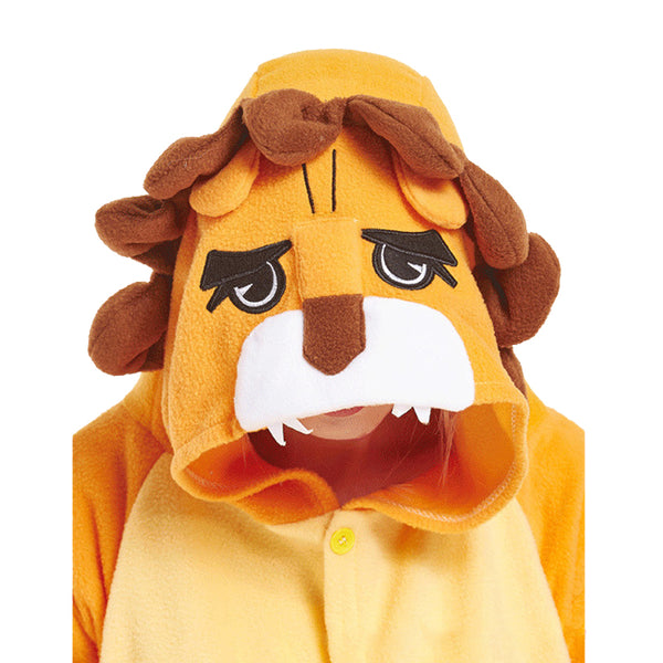 Animal Pajamas Orange Lion Kigurumi Cosplay Costume CMD146