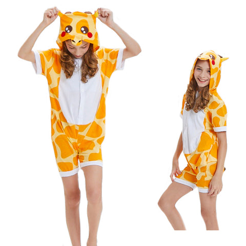Unisex Kids Summer Animal Pajamas Giraffe Cosplay Costume CMD131 - cosplaymadness