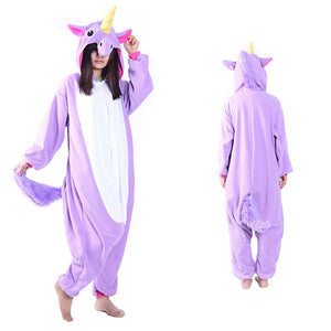 Unisex Purple Unicorn Kigurumi Animal Onesie Pajamas Cosplay Costume CMD028 - cosplaymadness