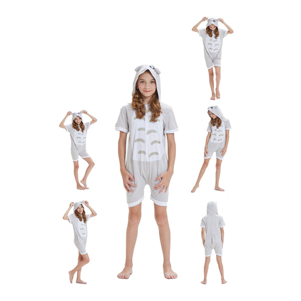 Kids Summer Animal Pajamas Totoro Cosplay Costume CMD136