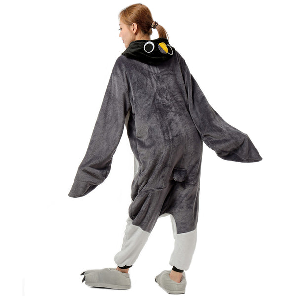 Unisex Adult Animal Pajamas Grey Penguin Cosplay Costume CMD109 - cosplaymadness