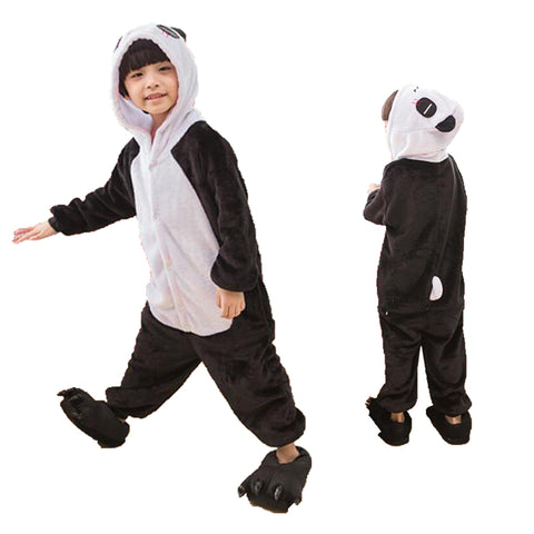 Kids Panda Animal Onesie Pajamas Cosplay Costume CMD036
