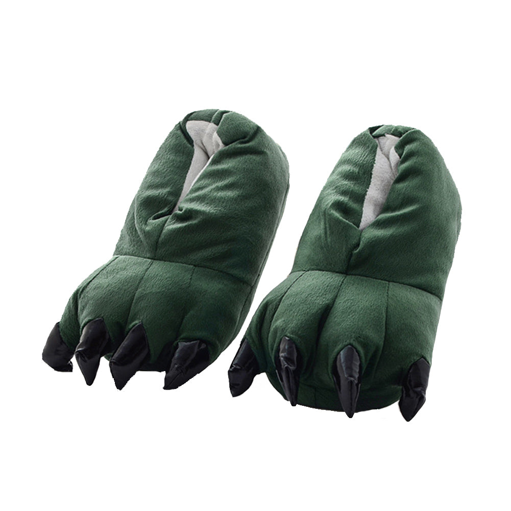 Dark Green Animal Onesies Kigurumi Slippers Shoes CMD043