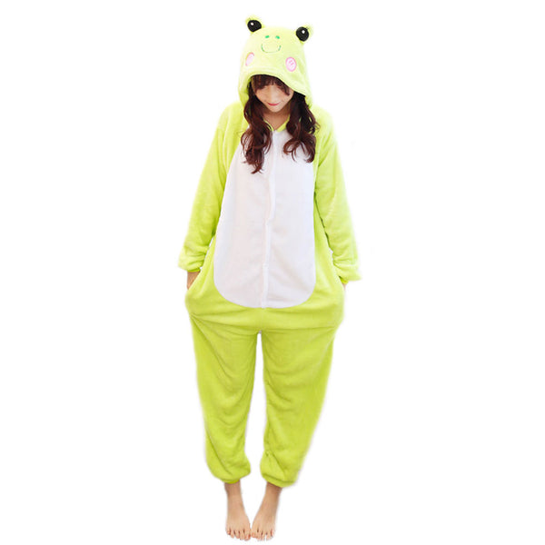 Unisex Frog Kigurumi Animal Onesie Pajamas Cosplay Costume CMD006-Frog - cosplaymadness
