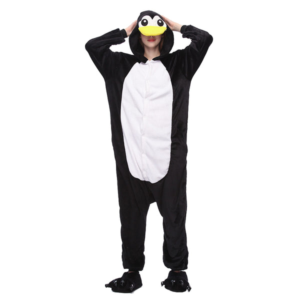 Unisex Penguin Kigurumi Animal Onesie Pajamas Cosplay Costume CMD014-Penguin - cosplaymadness