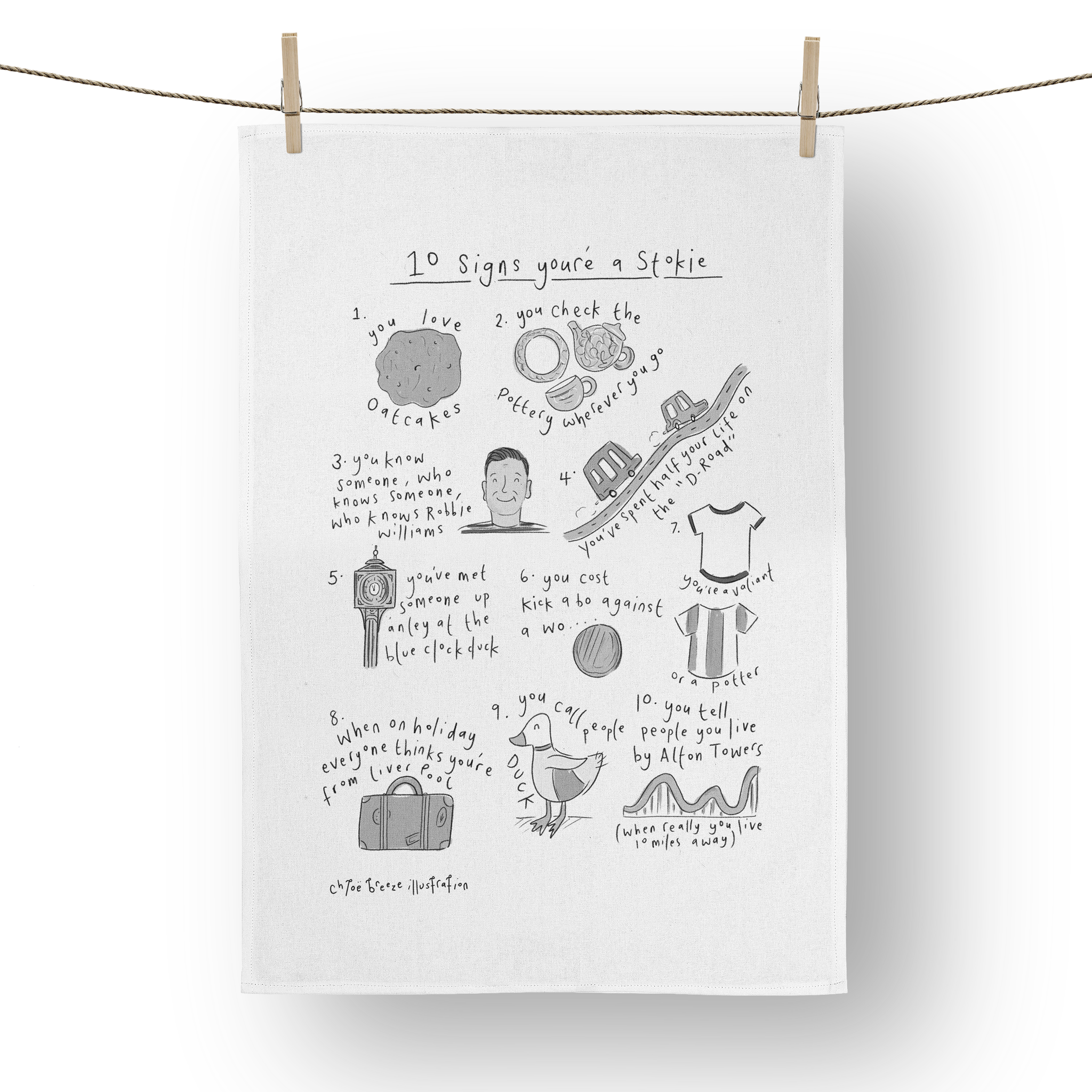 10 Signs You're a Stokie Tea Towel