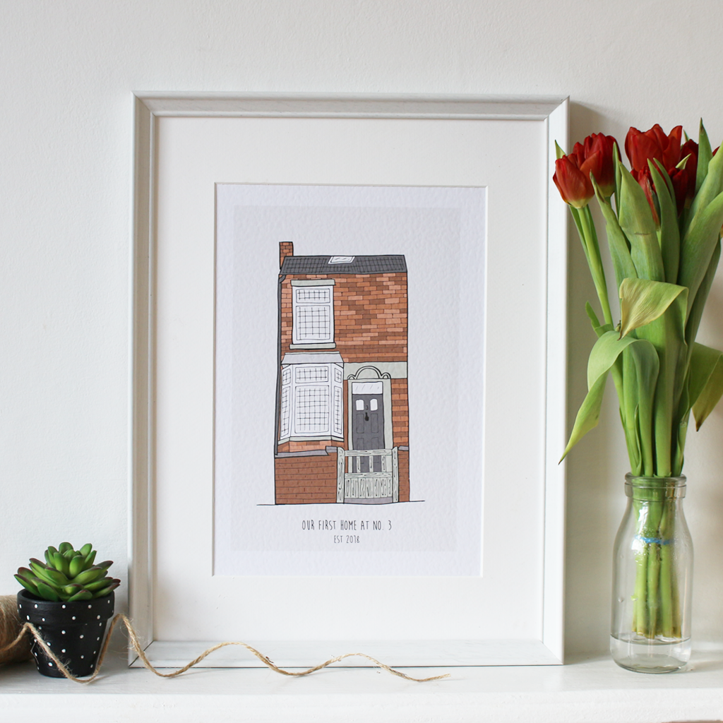 Personalised New Home Illustration