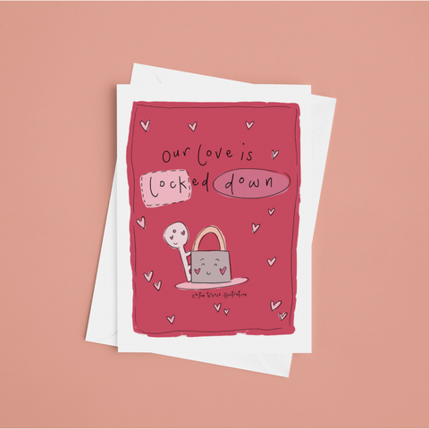 Lock Down Love Valentines Day Card