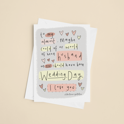 Should of been Husband/Wife Greeting card