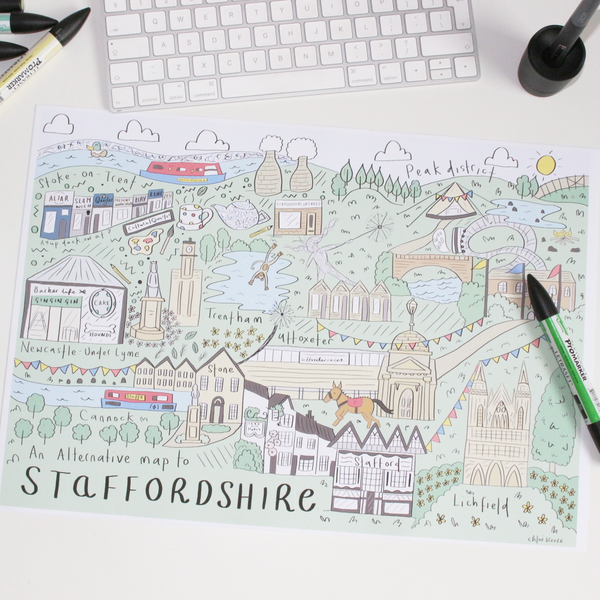 An Alternative Map of Staffordshire