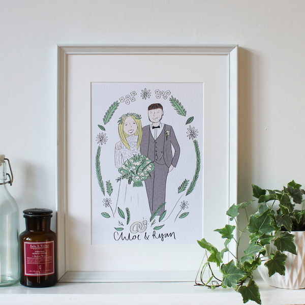Couples Wedding Illustration