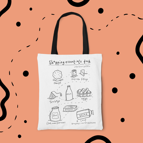 Shopping Essentials Staffordshire Oatcake Tote Bag