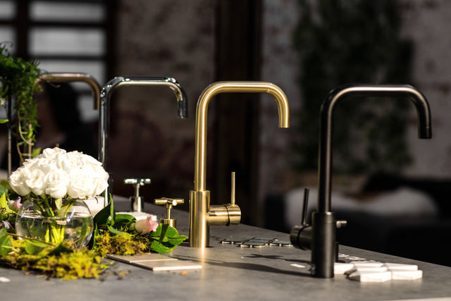 Kitchen mixers in Tiger Bronze Gold, Champagne, Chrome and Matte Black MK02