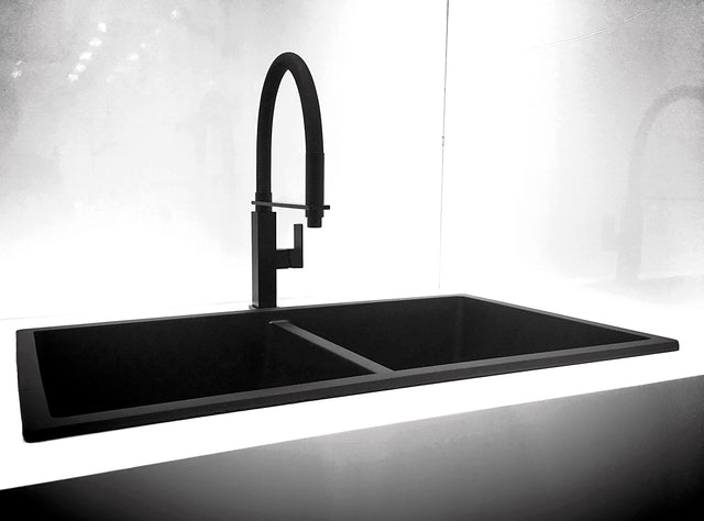 Meir Square Flexible Kitchen Mixer Tap - Matte Black (SKU: MK05) Image - 7