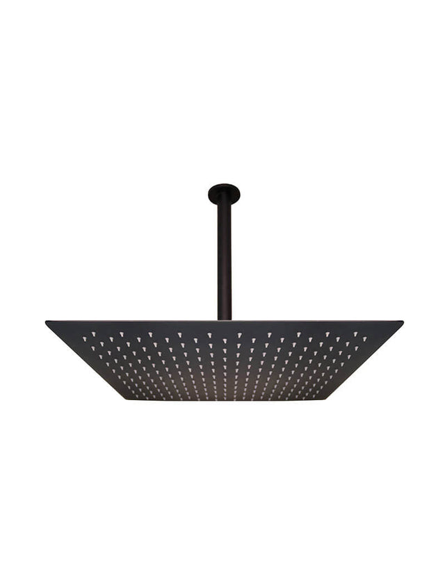 Meir Square Ceiling Shower 500mm rose, 300mm arm - Matte Black (SKU: MA07500) Image - 1