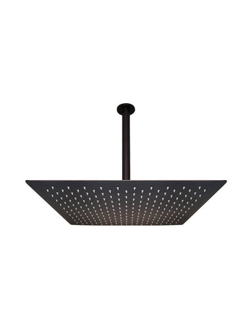 500mm  Shower(w/ceiling dropper) - Matte Black