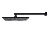 Square Wall Shower, 300mm rose, 400mm arm - Matte Black - MA0103