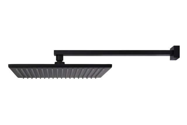 Meir Square Wall Shower, 300mm rose, 400mm arm - Matte Black (SKU: MA0103) Image - 3